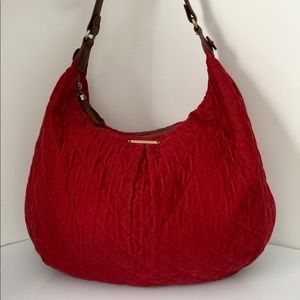 Vera Bradley red corduroy satchel shoulder bag